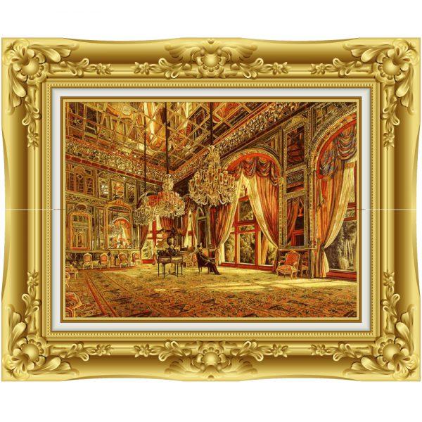 تابلو فرش دستباف زیبایی قصر