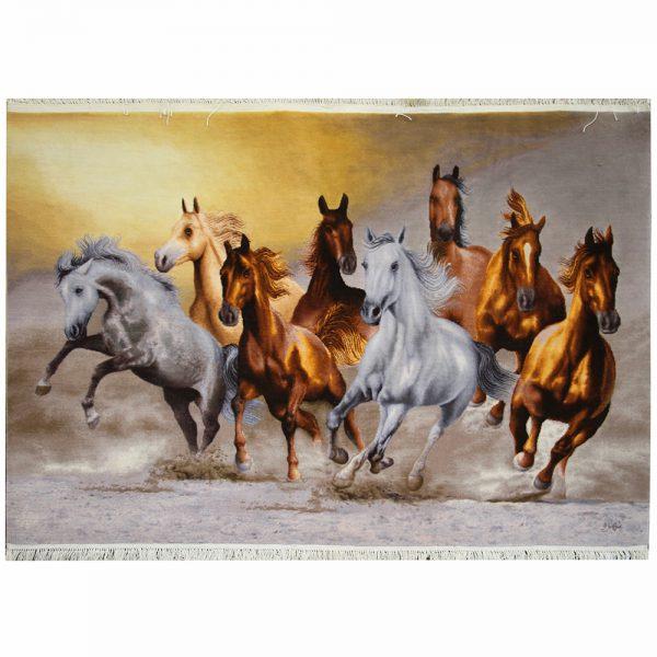 تابلو فرش دستباف گله اسب کد 21767