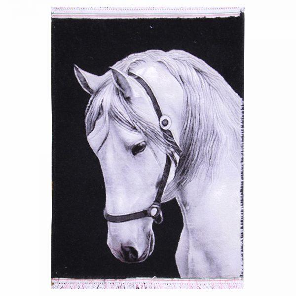 تابلوفرش دستباف مدل اسب سفید کد 22234