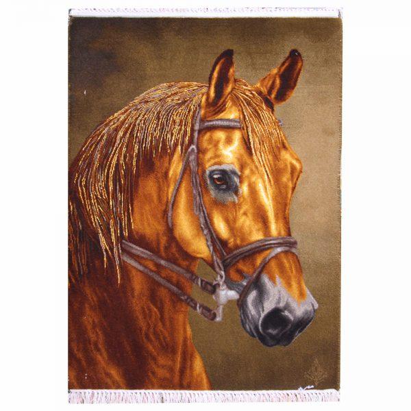 تابلوفرش دستباف اسب قهوهای 22292