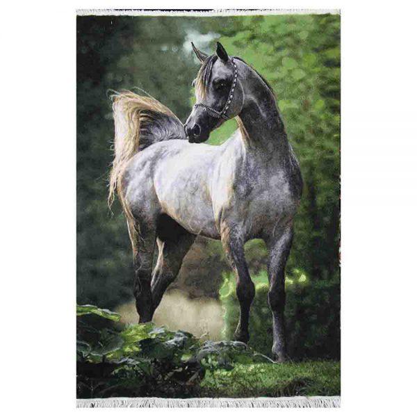 تابلوفرش دستباف اسب جنگل کد 22321