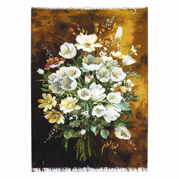 تابلو فرش دستباف دسته گل لاله کد 71292