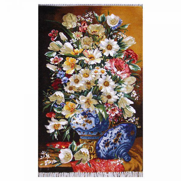 تابلوفرش دستباف گل گلدان قندانی