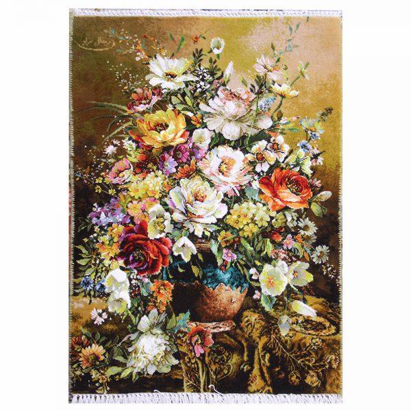 تابلوفرش دستباف رزهای گلدان سفالی کد 71329
