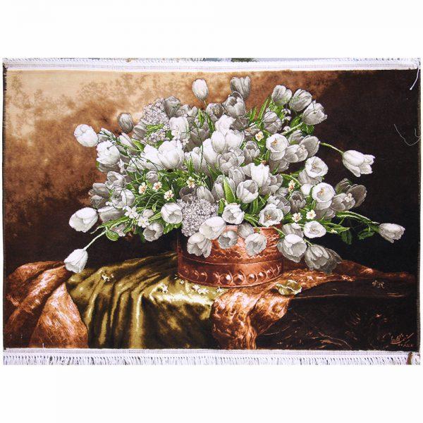تابلوفرش دستباف سبد گل لاله کد 72368