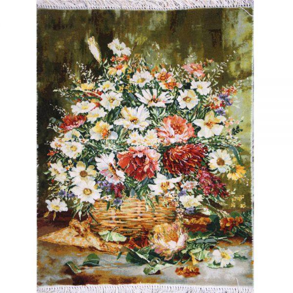تابلوفرش دستباف گل سبد حصیری کد 71345