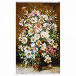 تابلوفرش دستباف گلدان گلپونه کد 71324